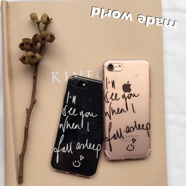 英字 iPhoneケース クリア インスタ SNS ガーリー かわいい ペアの通販 by made_world's shop|ラクマ