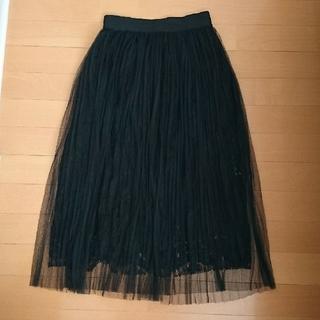 カラー(Color)の☆未使用☆color プリーツレーススカート(ロングスカート)