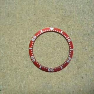 セイコー(SEIKO)の社外品 SEIKO ボーイ用ベゼルインサート レッド SKX007、009(腕時計(アナログ))