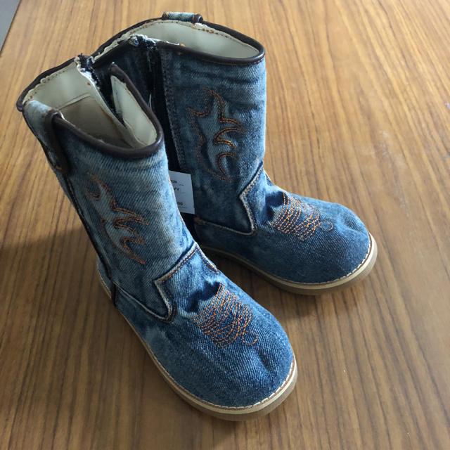 SESAMI CLUB(セサミクラブ)のこども用ブーツ 17.0cm SESAME CLUB デニム 子供服 値下げ歓迎 キッズ/ベビー/マタニティのキッズ靴/シューズ (15cm~)(ブーツ)の商品写真