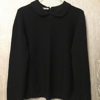 ミュウミュウ(miumiu)のmiumiu 襟付き ニット(ニット/セーター)