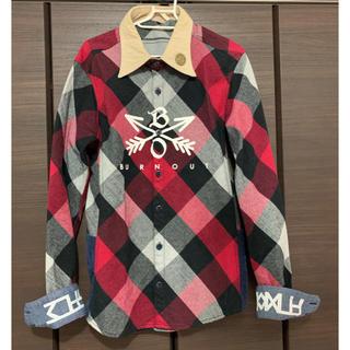 エム(M)のレアな初回生産版!!burnout クロスドアローチェックシャツ(シャツ)