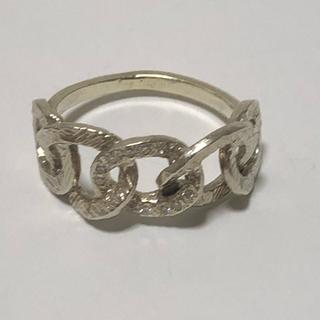 カオル(KAORU)のKAORU アトリエカオル チェインズ リング グリーンゴールド ダイヤモンド(リング(指輪))