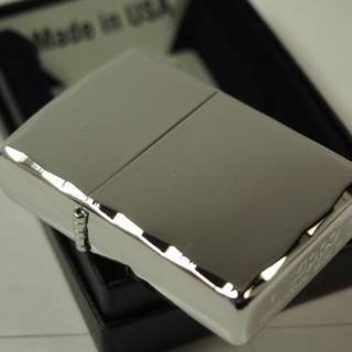 ジッポー(ZIPPO)の絶版 Zippo シャインレイカット DS エッジ 両面 シルバー(タバコグッズ)