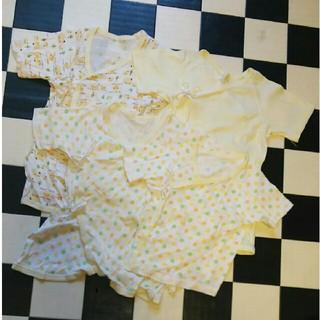 ニシマツヤ(西松屋)の新生児  肌着  4枚セット⭐ロンパース(肌着/下着)