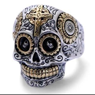 美品 メキシカン メキシコ リング 骸骨 指輪 (リング(指輪))