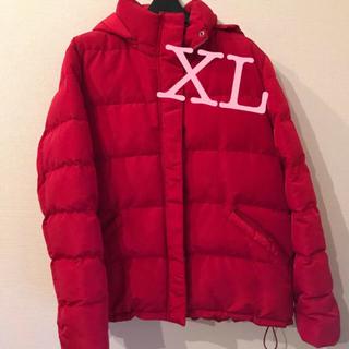 ジーユー(GU)のGU 中綿 ダウン ジャケット 赤 レッド XL(ダウンジャケット)