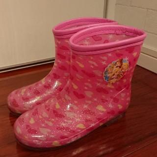 ディズニー(Disney)のディズニー プリンセス レインブーツ 長靴 19cm ピンク ラメ ハート 18(長靴/レインシューズ)