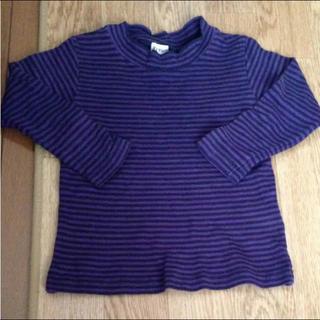 シマムラ(しまむら)の紫 ボーダー トップス(Tシャツ/カットソー)
