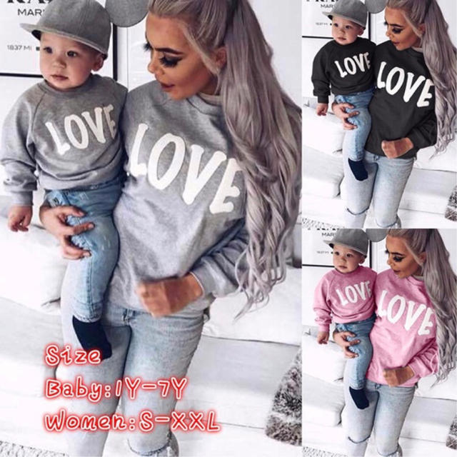c4354ed0912ae H M - Instagramで大人気 今期 親子ペア LOVE Tシャツの通販 by ...