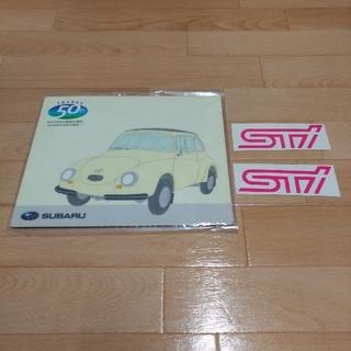 スバル(スバル)のスバル純正STI カッティングシート&スバル360マウスパッド(車外アクセサリ)