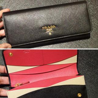 プラダ(PRADA)のPRADA サフィアーノ長財布 NERO(財布)