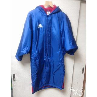 アディダス(adidas)の綺麗め【完全防寒】アディダス ロング ダウン ベンチコート 150cm ブルー(ウェア)