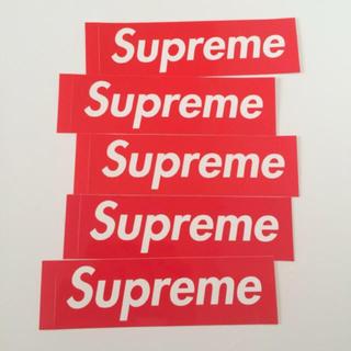 シュプリーム(Supreme)のsupreme 赤ボックスロゴステッカー(ステッカー)