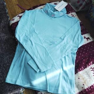 クラウンバンビ(CROWN BANBY)の新品クラウンバンビハイネック長袖Tシャツ 130(Tシャツ/カットソー)