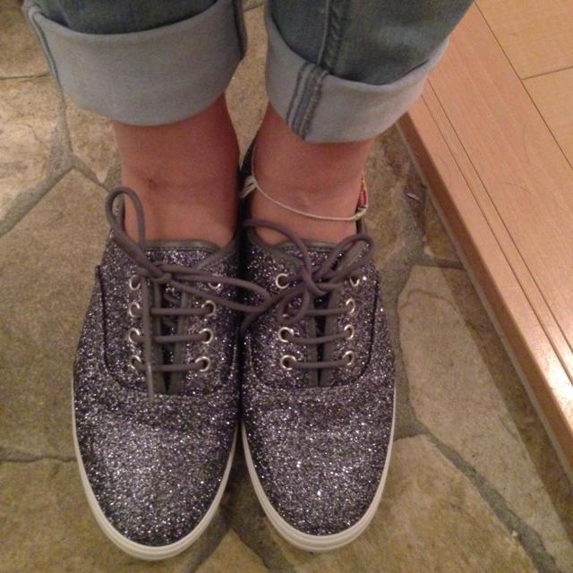韓国で購入☆シルバーラメスニーカー☆ レディースの靴/シューズ(スニーカー)の商品写真