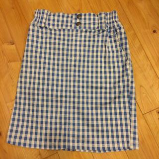 レイカズン(RayCassin)のギンガムチェック柄スカート(ひざ丈スカート)