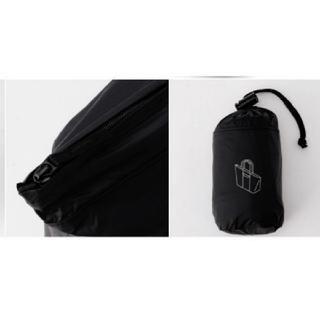ムジルシリョウヒン(MUJI (無印良品))の無印良品 収納袋付たためるトートバッグ ブラック 新品未使用タグ付き (トートバッグ)