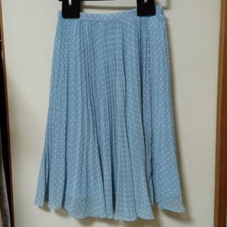 ワコール(Wacoal)のワコールSACHET 水色&水玉シフォンスカート(ひざ丈スカート)