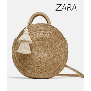 ザラ(ZARA)の【新品・未使用】ZARA ラフィアバッグ(かごバッグ/ストローバッグ)