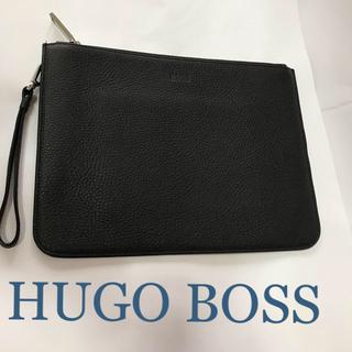 ヒューゴボス(HUGO BOSS)のヒューゴボス クラッチバッグ ブラック(セカンドバッグ/クラッチバッグ)