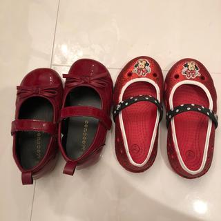 ディズニー(Disney)のクロックス ミニー 赤い靴 セット(スニーカー)
