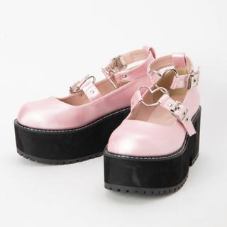 アンクルージュ(Ank Rouge)の最終値下げ♡ankrouge ハートバックルシューズ ピンク 新品未使用(ローファー/革靴)