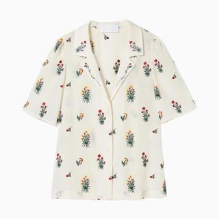 マメ(mame)のmame kurogouchi 刺繍シャツ(シャツ/ブラウス(半袖/袖なし))