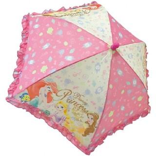 ディズニー(Disney)のフリルキッズ傘◆ディズニープリンセス◆40cm(傘)