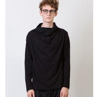 ユリウス(JULIUS)の新品rehacerFakeNeckDrapeCutsew変形ドレープハイネックS(Tシャツ/カットソー(七分/長袖))