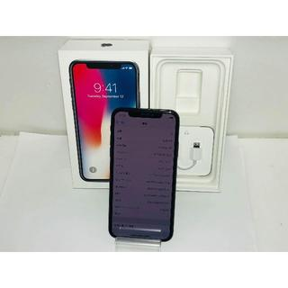 アイフォーン(iPhone)のau iPhoneX 256GB スペースグレイ スマホ本体 送料無料(スマートフォン本体)