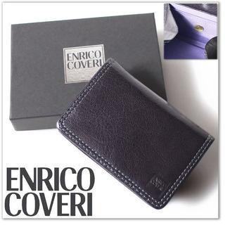 エンリココベリ(ENRICO COVERI)の新品 エンリココベリ BOX型 コインケース 実売4800円 財布 紺(コインケース/小銭入れ)