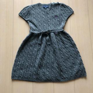 ラルフローレン(Ralph Lauren)のPOLO ラルフローレン 女の子子供服 ケーブルニットワンピース 120cm(ワンピース)