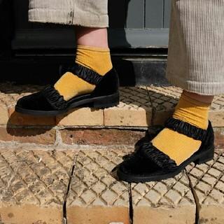 エフトゥループ(F-TROUPE)のvelvet shoes(バレエシューズ)