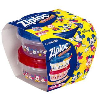 ディズニー(Disney)の【新品未開封】ジップロック スクリューロック 300ml 2個ミッキーミニー(容器)