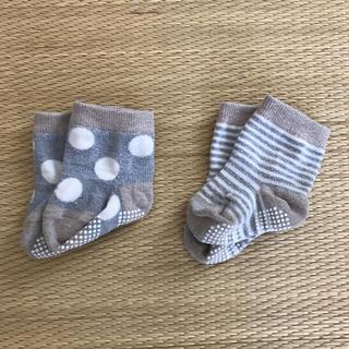 ベルメゾン(ベルメゾン)のベビー靴下 9〜12cm 2足(靴下/タイツ)
