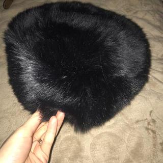 イーハイフンワールドギャラリー(E hyphen world gallery)のE hyphen world gallery PEACE ファーベレー帽(ハンチング/ベレー帽)
