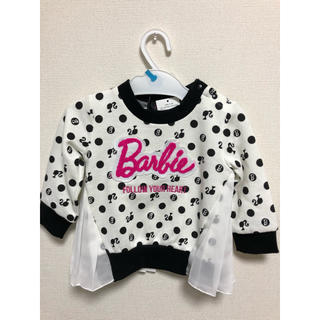 016b0677db68f Barbie トレーナー(ブラック)80(トレーナー)