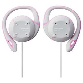 パナソニック(Panasonic)のパナソニック イヤホン 防水 薄型軽量 耳かけ ピンク(ヘッドフォン/イヤフォン)