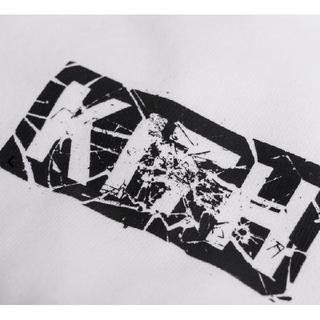 【Sサイズ】KITH SPLINTERED LOGO TEE - WHITE(Tシャツ/カットソー(半袖/袖なし))