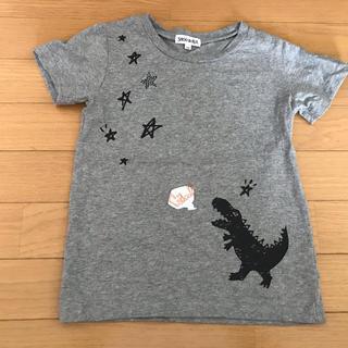 シューラルー★恐竜ガオーTシャツ120グレー美品ダイナソーグレー