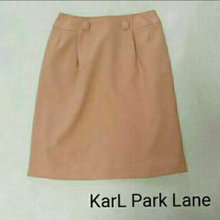 カールパークレーン(KarL Park Lane)の新品未使用*カールパークレーン*タックひざ丈スカート(ひざ丈スカート)