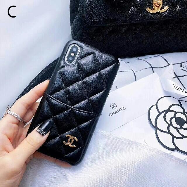 givenchy iphone7 ケース xperia | iPhone - シャネル  iPhoneケースカバー ブラックの通販 by 柴田's shop|アイフォーンならラクマ