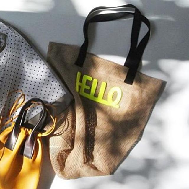 7cdfb0f01cf8 LUDLOW(ラドロー)の新品 🧡 ラドロー LETTERED メッシュ トートバッグ レディースのバッグ(