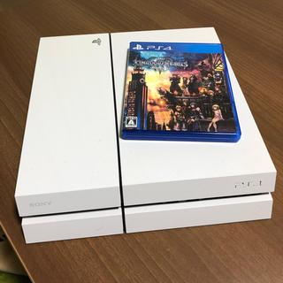 プレイステーション4(PlayStation4)のプレイステーション4 本体・白 PS4 CUH-1100A +キングダムハーツ3(家庭用ゲーム機本体)