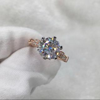【薔薇ダイヤ】輝くモアサナイト ダイヤモンド リング(リング(指輪))