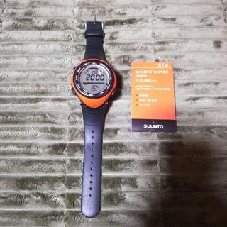 スント(SUUNTO)の日本百名山完登様専用:廃盤 スントベクター SUUNTO VECTOR オレンジ(腕時計(デジタル))