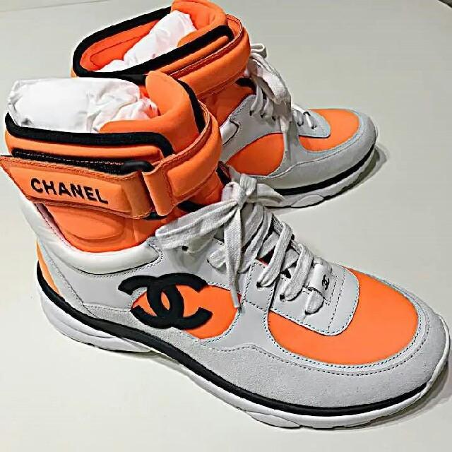 CHANEL(シャネル)のCHANEL 2018SS プレ テニスシューズ※ハイカット レディースの靴/シューズ(スニーカー)の商品写真