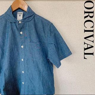 Orcival オーシバル 半袖シャツ 丸襟 ワンポイント 0124
