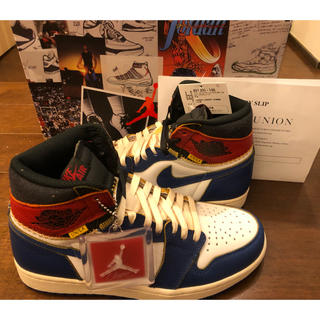 ナイキ(NIKE)の24.5cm nike air jordan 1 retro hi union(スニーカー)